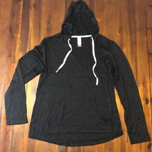 Long Sleeve Hooded Shirt